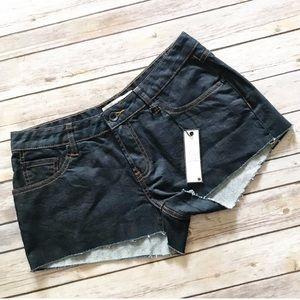 NWT OTB Dark Wash Denim Cutoff Shorts Size 7